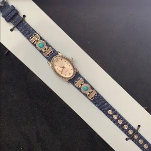 Accessories - Denim strap watch